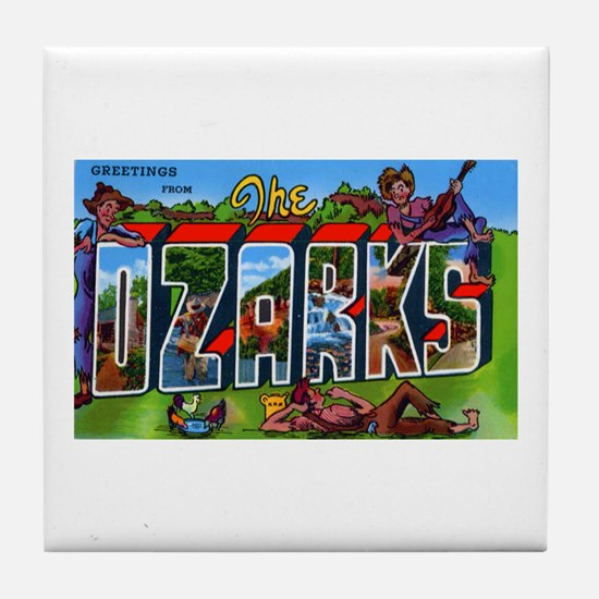 Ozarks Arkansas Greetings Tile Coaster