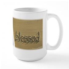 "Sand Script ""blessed"" Mug"