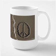 Peace sign Sand Script Mug