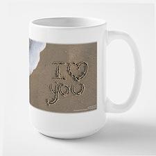 I Love You Sand Script Mug