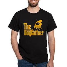 American Lo Sze Pug Black T-Shirt