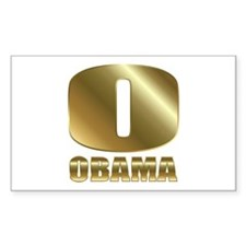 Big Gold O Barack Obama Decal