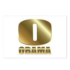 Big Gold O Barack Obama Postcards (Package of 8)