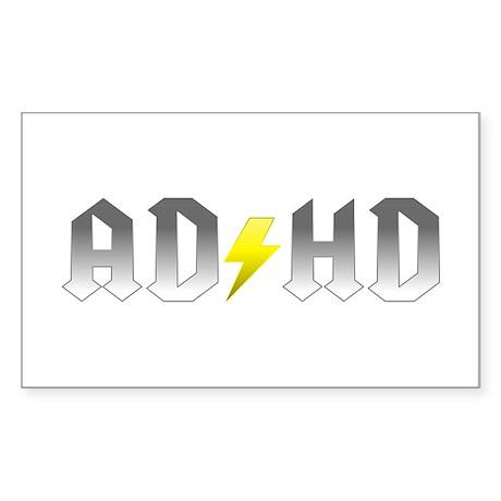ADHD Rock Design Sticker (Rectangle)
