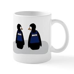 Castle Crime Solving Penguins Mug