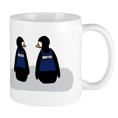 Castle Crime Solving Penguins Mug