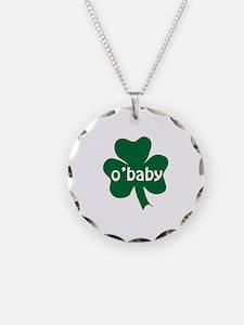O'Baby Shamrock Necklace Circle Charm