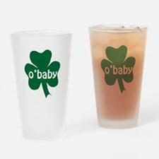 O'Baby Shamrock Drinking Glass