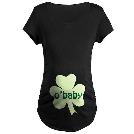 O'Baby Shamrock Maternity Dark T-Shirt