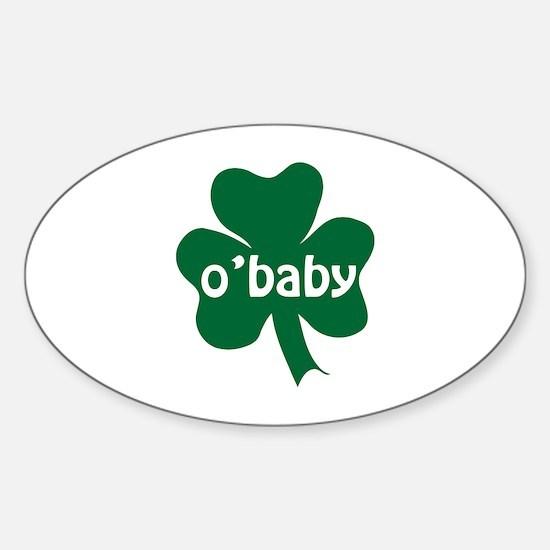 O'Baby Shamrock Sticker (Oval)