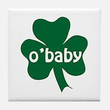 O'Baby Shamrock Tile Coaster