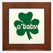 O'Baby Shamrock Framed Tile