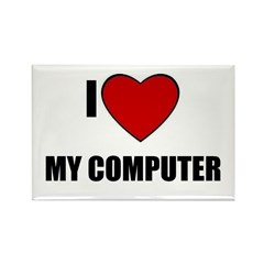 I LOVE MY COMPUTER Rectangle Magnet (10 pack)
