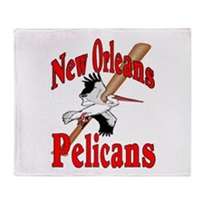 Pelican's Baseball Throw Blanket