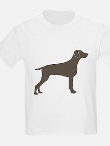 Weimaraner Silhouette Kids T-Shirt