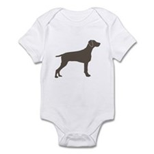 Weimaraner Silhouette Infant Creeper