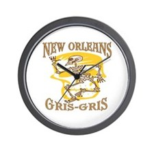 New Orleans Gris Gris Wall Clock