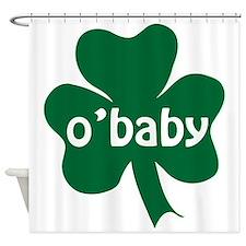 O'Baby Shamrock Shower Curtain