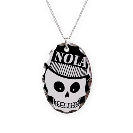 NOLa Sign Necklace Oval Charm