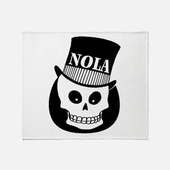 NOLa Sign Throw Blanket