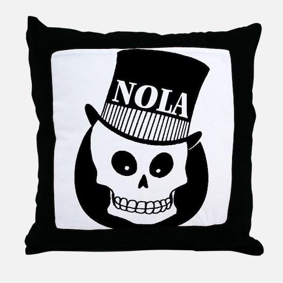 NOLa Sign Throw Pillow