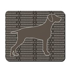 Weimaraner Silhouette Gray Mousepad