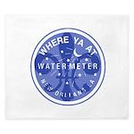 Where Ya At Water Meter King Duvet