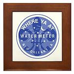 Where Ya At Water Meter Framed Tile