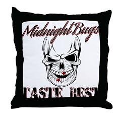 Midnight Bugs Throw Pillow