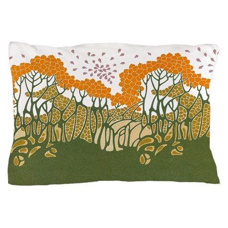Arts and crafts trees pillow case by gurugoods for White craft pillow cases