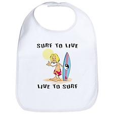 Surf To Live Bib