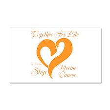 Stop Uterine Cancer Car Magnet 20 x 12