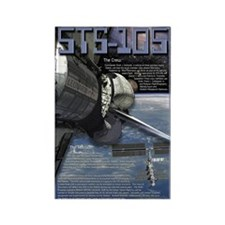 STS 105 Shuttle Mission Poster Rectangle Magnet