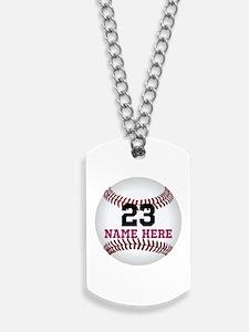 Baseball Player Name Number Dog Tags