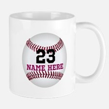 Baseball Player Name Number Mug