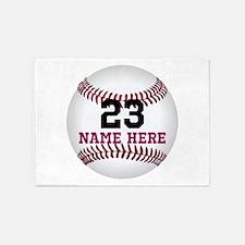 Baseball Player Name Number 5'x7'Area Rug