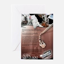 STS 109 Shuttle Mission Poster Greeting Cards (Pa