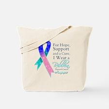 Thyroid Cancer Ribbon Tote Bag