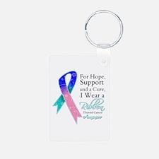 Thyroid Cancer Ribbon Keychains