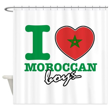 I Love Moroccan Boys Shower Curtain By Studio438