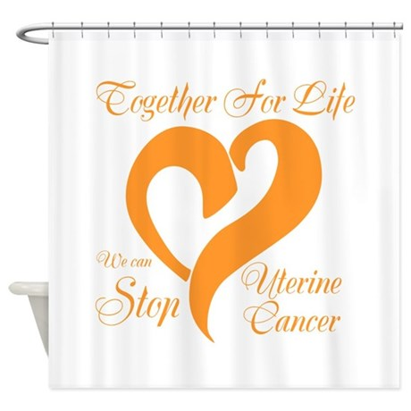 Stop Uterine Cancer Shower Curtain
