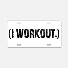 ( I WORKOUT) Aluminum License Plate
