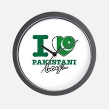 I love Pakistani Boys Wall Clock