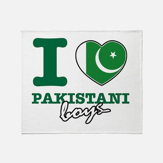 I love Pakistani Boys Throw Blanket