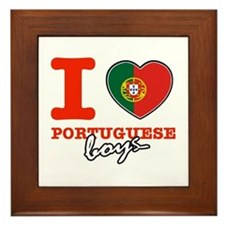 I love Portuguese Boys Framed Tile