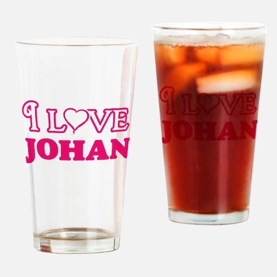 I Love Johan Drinking Glass