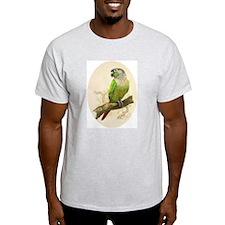 "Ash Grey T-Shirt ""Green Cheeked Conure"""