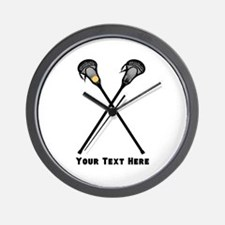 Lacrosse Player Customized Wall Clock