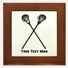 Lacrosse Player Customized Framed Tile