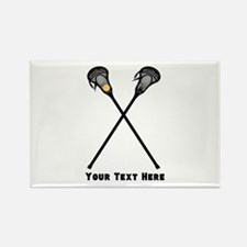 Lacrosse Player Customized Rectangle Magnet
